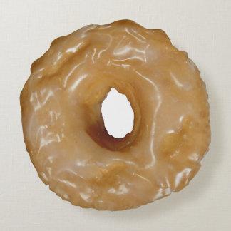 Glazed donut round pillow