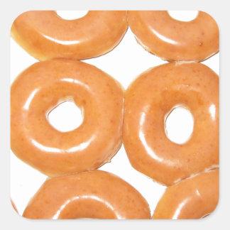 Glazed Donuts Square Sticker