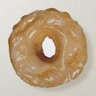 Glazed doughnut round pillow