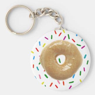 Glazed Doughnut with Sprinkles Key Chain