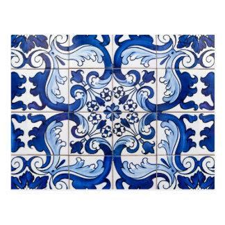 Glazed Portuguese Azulejo Tiles Postcard