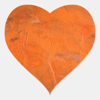 Glazed Terracotta Heart Sticker