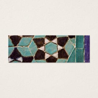 Glazed Tile Mosaic Mini Business Card