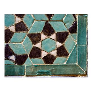 Glazed Tile Mosaic Postcard
