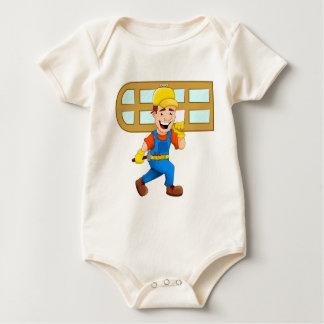 Glazier Repairman Construction Worker Windowpane Baby Bodysuit