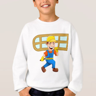 Glazier Repairman Construction Worker Windowpane Sweatshirt