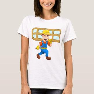 Glazier Repairman Construction Worker Windowpane T-Shirt