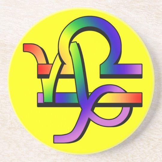 GLBT Capricorn & Libra Coaster
