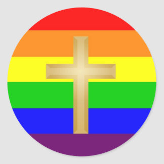 GLBT Christian Pride Classic Round Sticker