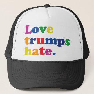 GLBT Love Trumps Hate Trucker Hat