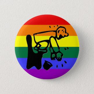 GLBT Pride Clapper 2 Inch Round Button