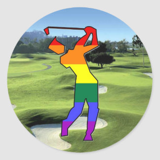 GLBT Pride Golf Classic Round Sticker