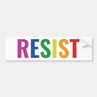 Glbt Resist Bumper Sticker