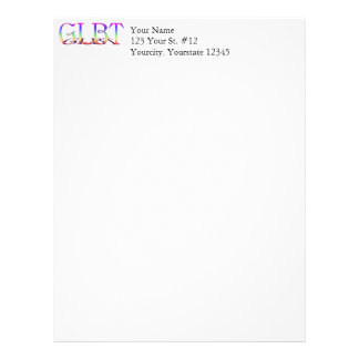 GLBT Support Rainbow Text Letterhead