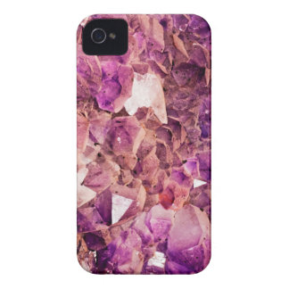Gleaming Purple Geode Crystals iPhone 4 Covers
