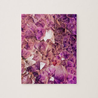 Gleaming Purple Geode Crystals Jigsaw Puzzle