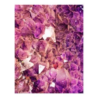 Gleaming Purple Geode Crystals Letterhead