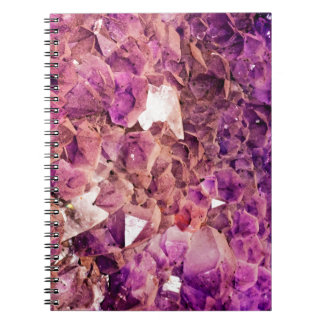 Gleaming Purple Geode Crystals Notebook