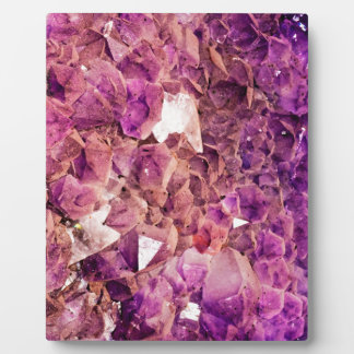 Gleaming Purple Geode Crystals Plaque
