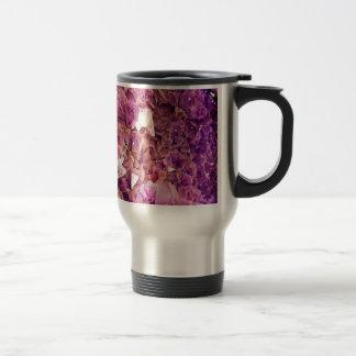 Gleaming Purple Geode Crystals Travel Mug