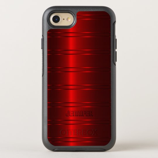 Gleaming Red Stripes OtterBox Symmetry iPhone 7 Case
