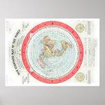 Gleason's NEW STANDARD MAP OF THE WORLD - High Rez Poster