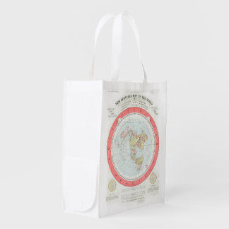 Gleason's 'NEW STANDARD MAP OF THE WORLD' Tote Bag Reusable Grocery Bags