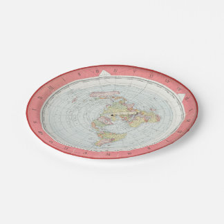 Gleason's 'NEW STANDARD MAP' Paper Plates 7 Inch Paper Plate