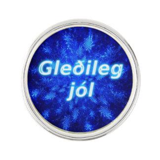 Gleðileg Jól - Snowburst Lapel Pin