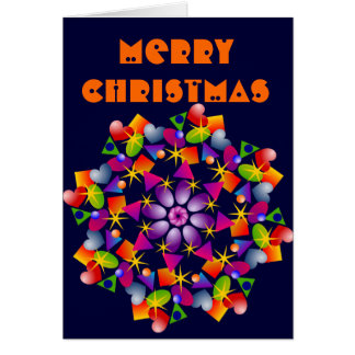 Glee Multi Colored Sparkles Christmas Card
