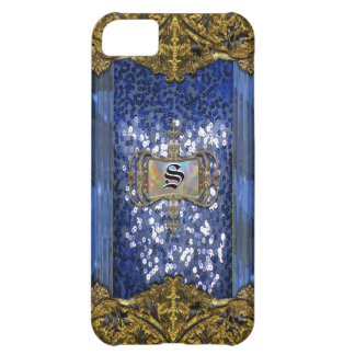 Gleemshore Saph Victorian Monogram Cover For iPhone 5C