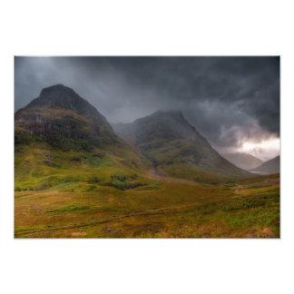 Glen Coe under a storm Photo Print