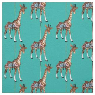 Glen Echo Giraffe - Light Turquoise Fabric