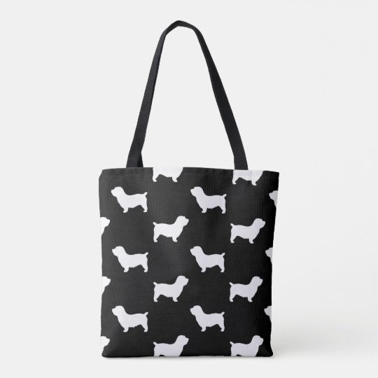 Glen of Imaal Terrier Silhouettes Pattern Tote Bag
