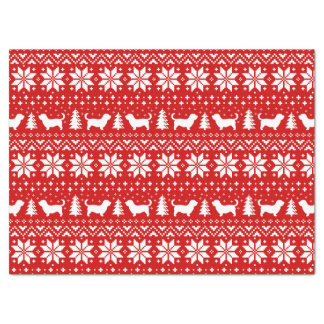 Glen of Imaal Terriers Christmas Pattern Red Tissue Paper