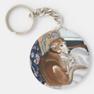 Glen the Lurcher Keychain