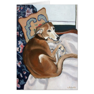 Glen the Lurcher Note Card