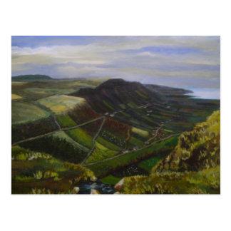 Glenariff, Glens of Antrim Oil Painting - J Casey Postcard