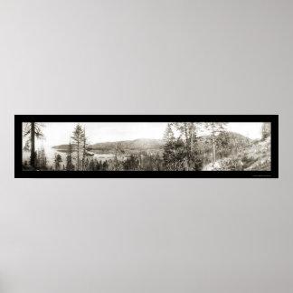 Glenbrook Lake Tahoe Photo 1906 Poster