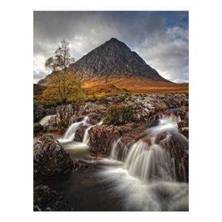 Glencoe, Buchaille Etive Mor, Scotland Custom Letterhead