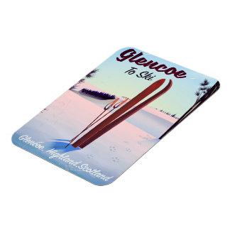 Glencoe To Ski travel poster Magnet