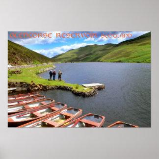 Glencorse Reservoir, Scotland Poster