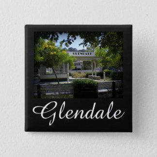 Glendale, California Adams Square Gas Station 2 Inch Square Button
