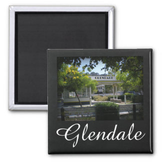 Glendale, California Adams Square Gas Station Magnet