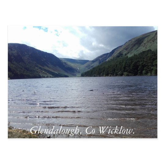 Glendalough, Co Wicklow. Postcard