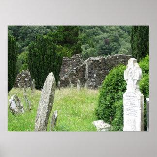 Glendalough, Ireland Cemetery Poster