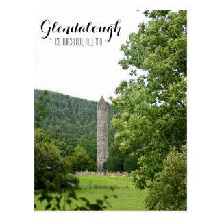 Glendalough Round Tower Postcard