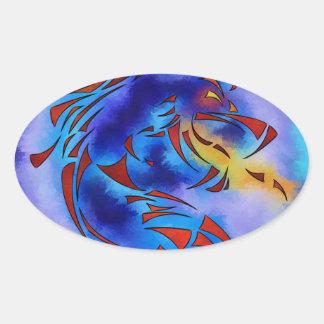Glenfbach V1 - mystic dragon Oval Sticker