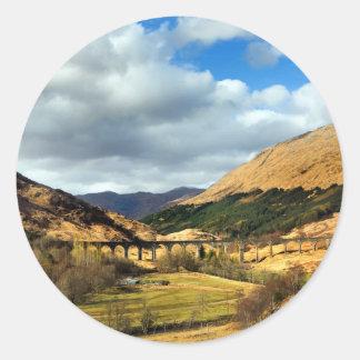 Glenfinnan Viaduct. Classic Round Sticker
