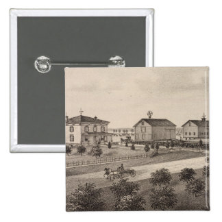 Glenhaven and Pleasant View, Kansas 2 Inch Square Button